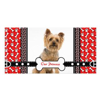 Pet Portrait Photo Card Paw and Bone