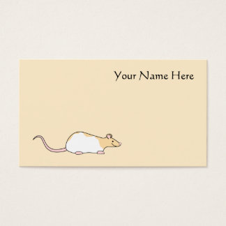 Pet Rat. Fawn and White Hooded Variegated. Business Card