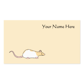Pet Rat. Fawn and White Hooded Variegated. Pack Of Standard Business Cards