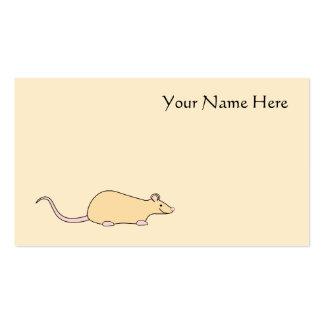 Pet Rat. Fawn. Business Card Templates