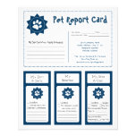 Pet Report Cards - Blue