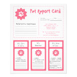 Pet Report Cards - Pink Flyers