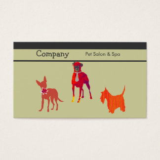 Pet Salon & Spa and Pampered Care Business Card