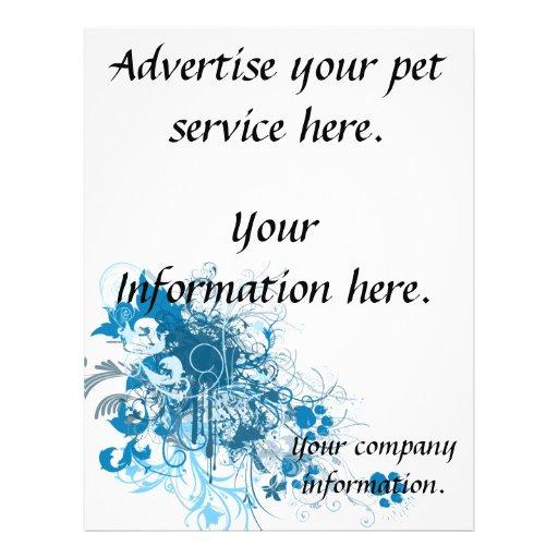pet service, vet clinic flyer, template