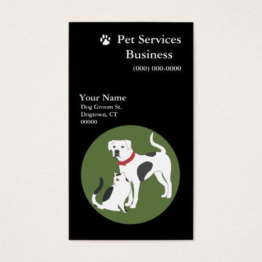 Pet Services Business Card