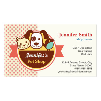 Pet Shop - Cute Polka Dots Pack Of Standard Business Cards