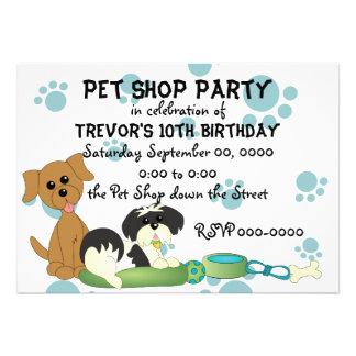Pet Shop Party Personalized Announcement