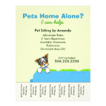 Pet Sitter Ad Yorkie Couch Green Tear Sheet Full Colour Flyer