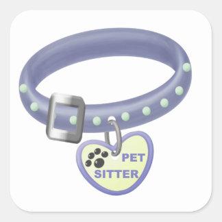 Pet Sitter (blue collar) Square Stickers