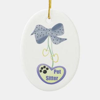 Pet Sitter (blue dangle) Christmas Ornament