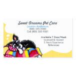 Pet Sitter Care Business Schnauzer Puppy Yellow Business Card Templates