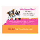 Pet Sitter Coupon Mailer Ad Yorkie Cat Couch Pink Postcard