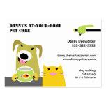 Pet Sitter- Dog Cat Bird & Fish-white background Business Card Template