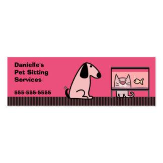 Pet Sitter Dog Cat Business Card Templates