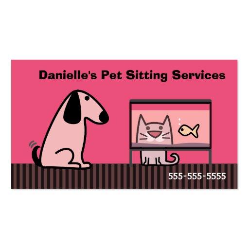 Pet Sitter Dog & Cat Business Card