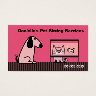 Pet Sitter Dog & Cat Business Card