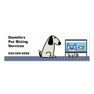 Pet Sitter Dog & Cat Double-Sided Mini Business Cards (Pack Of 20)