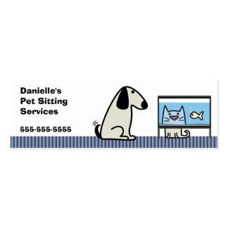 Pet Sitter Dog Cat Business Card Template