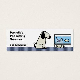 Pet Sitter Dog & Cat Mini Business Card