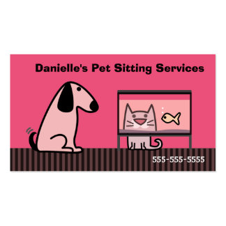 Pet Sitter Dog & Cat Pack Of Standard Business Cards
