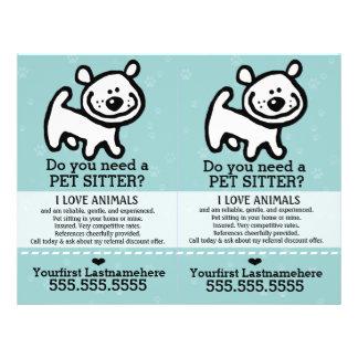 Pet Sitter.Dog Sitter.2 for 1.Customizable. 21.5 Cm X 28 Cm Flyer