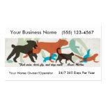 Pet Sitter Dog Walker  Business Card