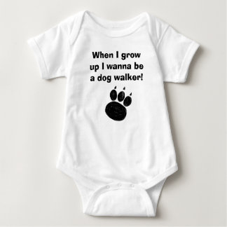 Pet Sitter & Dog Walker Paw Print Baby Bodysuit