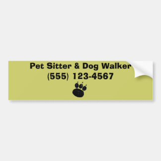 Pet Sitter & Dog Walker Paw Print Bumper Sticker