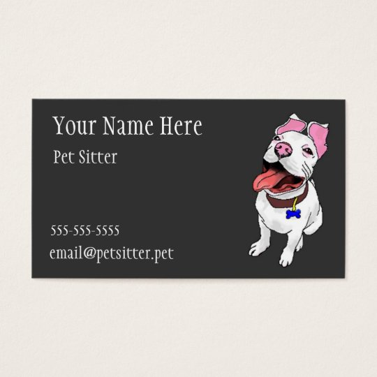 Pet sitter Pet care business cards with dog