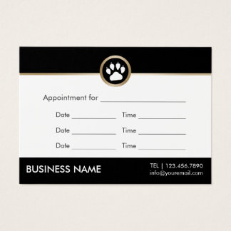 Pet Sitter Pet Salon Modern Paw Logo Appointment Business Card