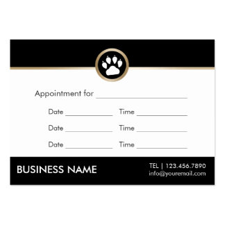Pet Sitter Pet Salon Modern Paw Logo Appointment Pack Of Chubby Business Cards