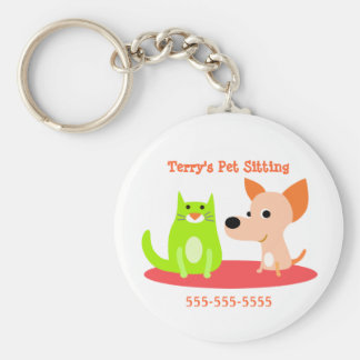 Pet Sitter Promotional Keychain