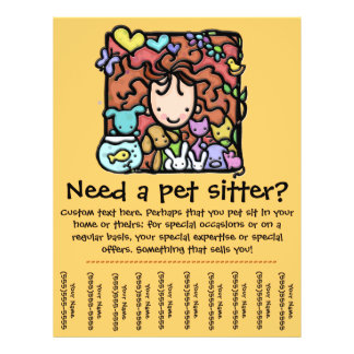 Pet Sitter promotional tear sheet flyer