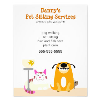 Pet Sitter s Promotional Personalized Flyer