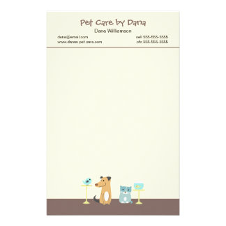 Pet Sitter s Stationery