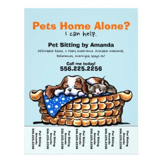 Pet Sitter Sitting Personalized Tear Sheet 21.5 Cm X 28 Cm Flyer