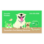 Pet Sitters Business Card-green Pack Of Standard Business Cards