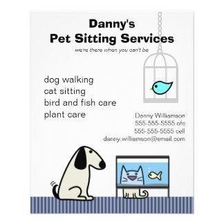 Pet Sitter's Dog Cat & Aquarium 11.5 Cm X 14 Cm Flyer