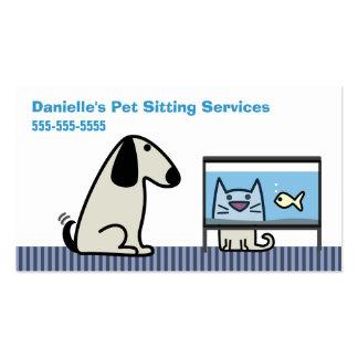 Pet Sitter's Dog Cat & Aquarium Pack Of Standard Business Cards