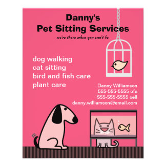 Pet Sitter's Dog & Cat Red 11.5 Cm X 14 Cm Flyer