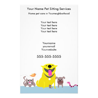 Pet Sitters Flyer-blue 14 Cm X 21.5 Cm Flyer