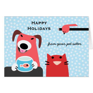 Pet Sitter's Holiday Card