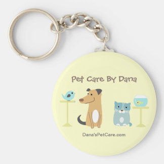 Pet Sitter's Promotional Keyring Basic Round Button Key Ring