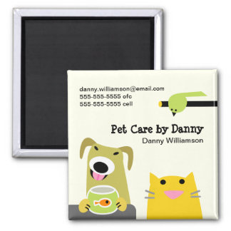 Pet Sitter's Promotional Square Magnet