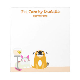 Pet Sitter's Services Notepad