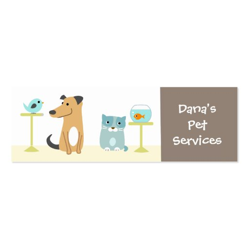 Pet Sitting Business Pack Of Skinny Business Cards