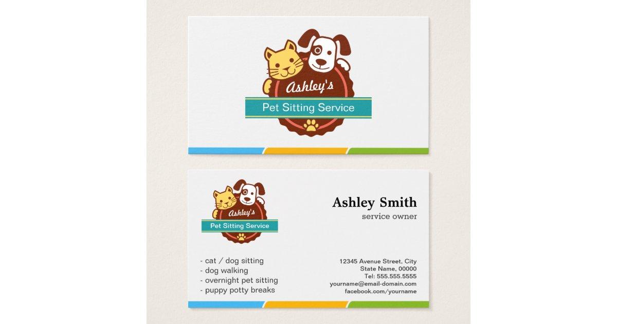 Pet Sitting Service Business Card | Zazzle.co.uk
