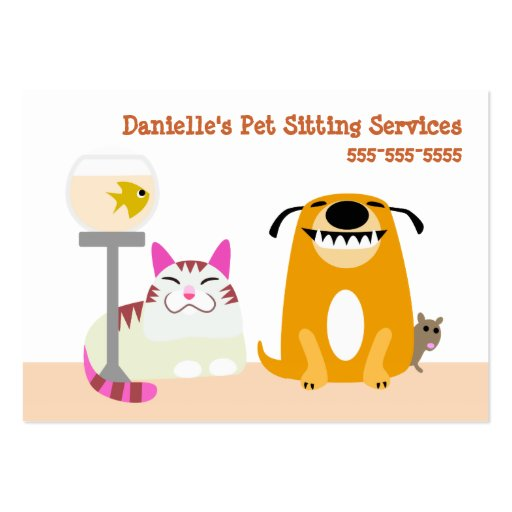 Pet Sitting Services Business Card Templates