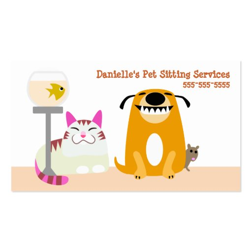 Pet Sitting Services Business Cards