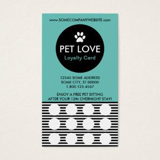 PET SITTING stripe stamp card